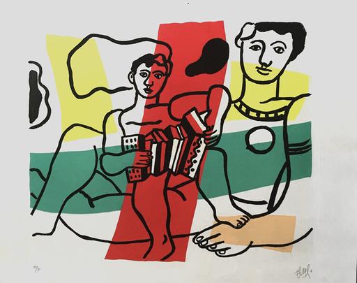 Fernand LÉGER - Print-Multiple - L'Enfant a L' Acordion