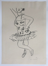亨利·马蒂斯 - 版画 - Danseuse cambree au visage coupe