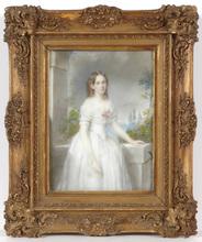 Emanuel Thomas PETER (Attrib.) - Miniatur - Emanuel Thomas Peter (1799-1873)-Attrib., Portrait of a lady