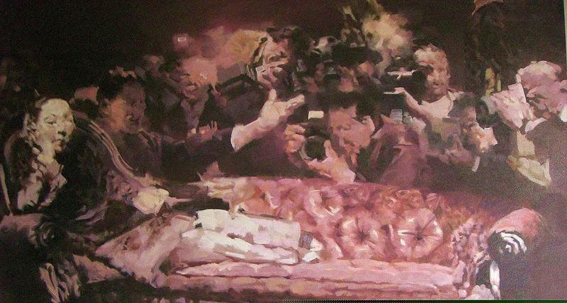 JIANG BO - Pintura - The Three-Inch Golden Lotu