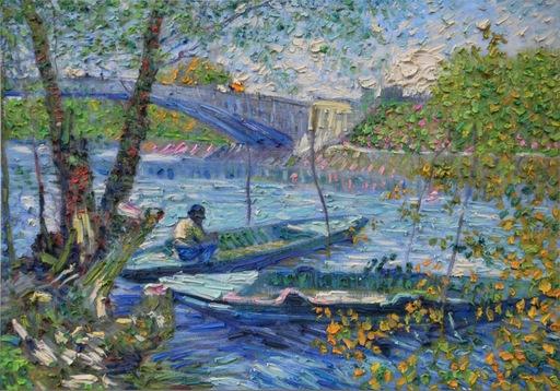 Stefano ARIENTI - Pintura - La pesca in primavera