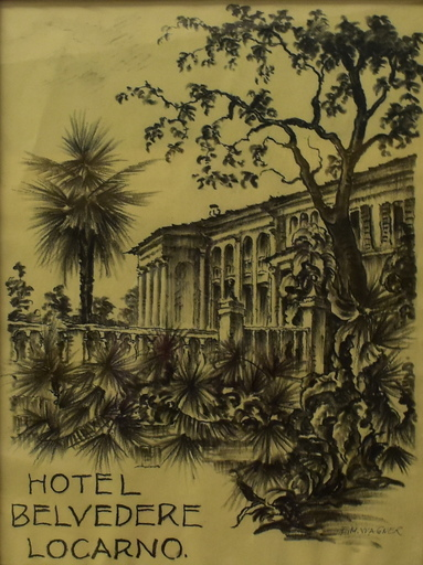 Ernst Michael WAGNER - Drawing-Watercolor - Hotel Belvedere Locarno