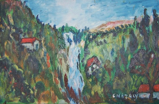 CHAZALY - Painting - le torrent