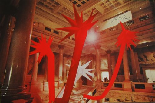 Otto PIENE - Stampa Multiplo - Red Rapid Growth