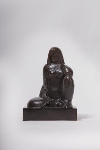 Joseph CSAKY - Sculpture-Volume - Nu assis, dite aussi Femme assise genou à terre