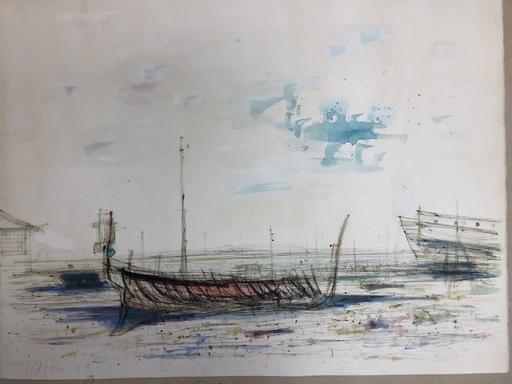 Jean CARZOU - Dibujo Acuarela - Havana