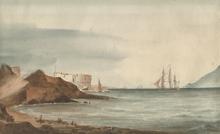 Antoine II ROUX (1799-1872) - Fregate sortant du port de Toulon