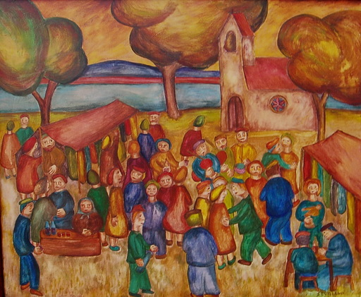 Angel SEVILLANO ESTREMERA - Pintura - fiesta popular