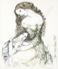 藤田嗣治 - 版画 - Mere et Enfant (Mother and Child)