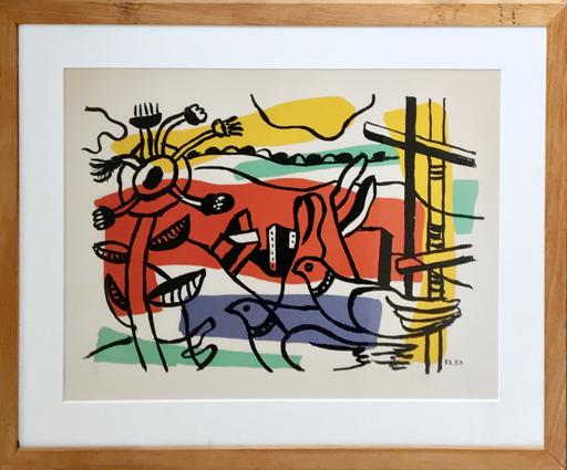 Fernand LÉGER - Print-Multiple - Composition aux deux oiseaux