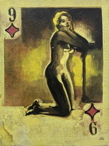 Damir MURATOV - Painting - Nine Of Diamonds