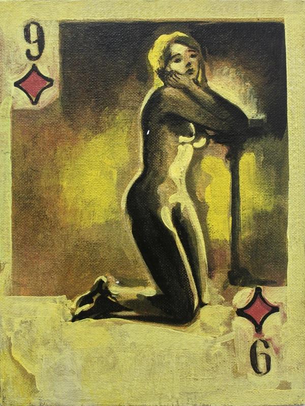 Damir MURATOV - Painting - Nine Of Diamonds