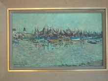 Jean RIGAUD - Painting - LE PORT DU QUILVINEC
