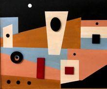 Loló SOLDEVILLA - Peinture - Composition ,1950