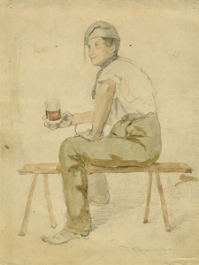 Raffaele ARMENISE,  MAN WITH A GLASS OF WINE