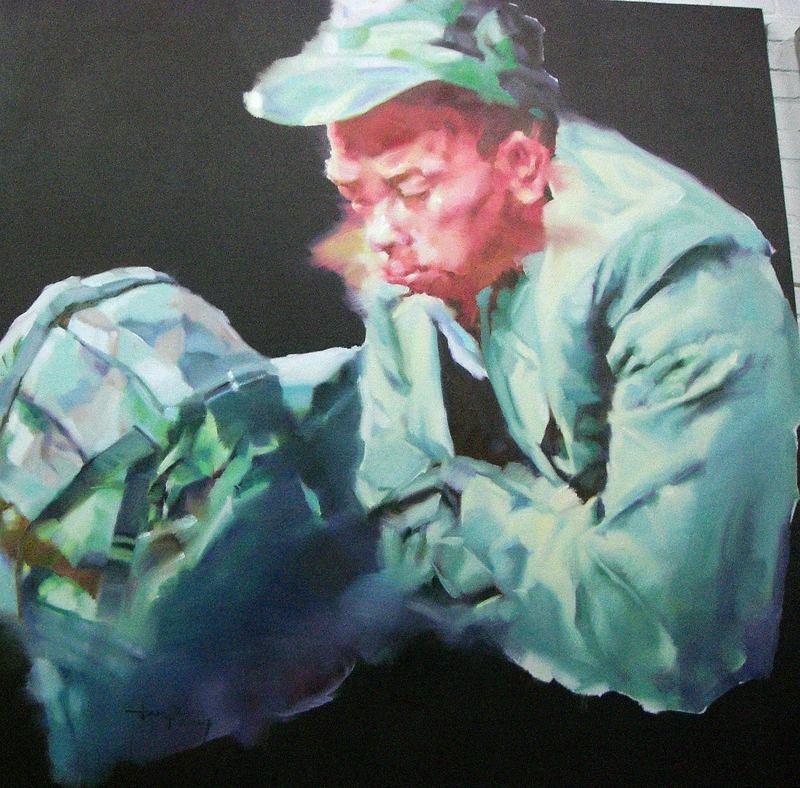JIANG BO - Pintura - Homecoming