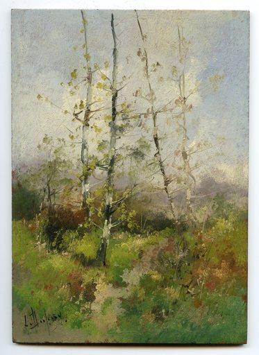 Eugène GALIEN-LALOUE - Painting - HUILE SUR PANNEAU SIGNÉ L. DUPUIS HANDSIGNED OIL ON WOOD