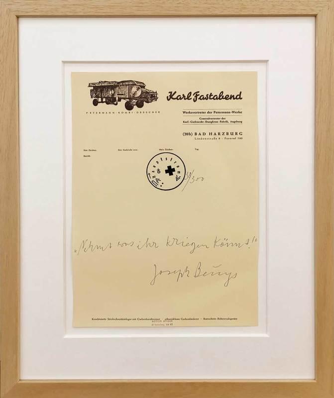 Joseph BEUYS - Print-Multiple - Nehmt was ihr kriegen könnt