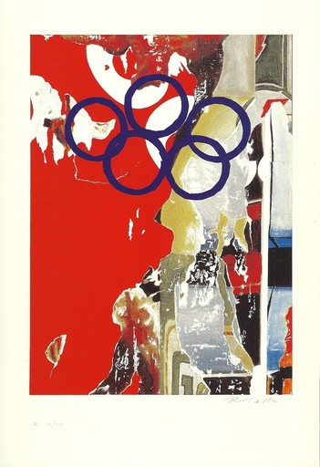Mimmo ROTELLA - Stampa Multiplo - jeux olympiques