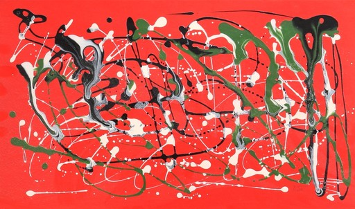 Mike BIDLO - Gemälde - c.1983 Not a Pollock – From the Pollock Series