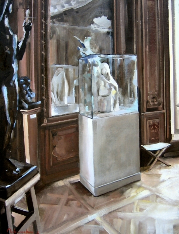 Christoff DEBUSSCHERE - Pintura - Musée Rodin, le miroir