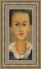 Levan URUSHADZE - Painting - Girl in white collar