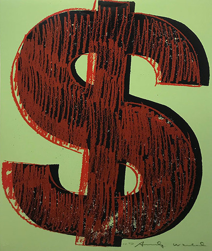 Andy WARHOL - Estampe-Multiple - DOLLAR SIGN FS II.274