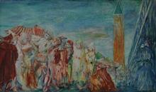 Aligi SASSU - Pintura - Carnevale di Venezia