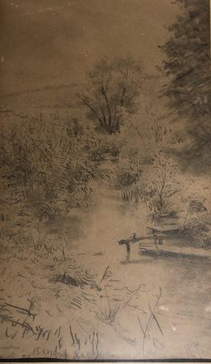 Yuri Ilich REPIN - Dessin-Aquarelle - Landschaft am Bach