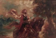 Louis ANQUETIN - Peinture - Cavalier ou autoportrait présumé, vers 1925-30