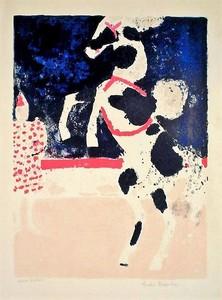 André BRASILIER - Print-Multiple - Cheval de cirque, 1965