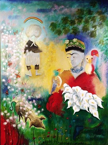 Danielle LE BRICQUIR - Painting - Le bonheur de Frida