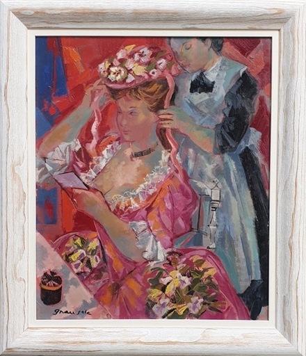 Emilio GRAU-SALA - Painting - Comedienne dans L`éloge