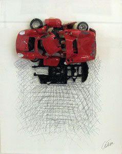 CÉSAR - Print-Multiple - Ferrari rouge