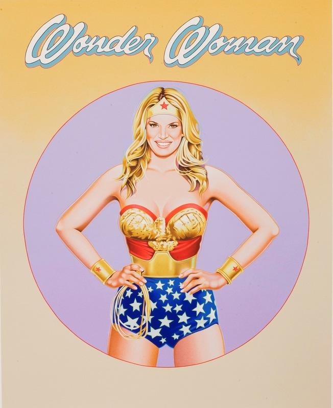 Mel RAMOS - Grabado - Wonder Woman