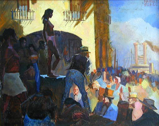 Maurice FREED - Painting - Slave Auction