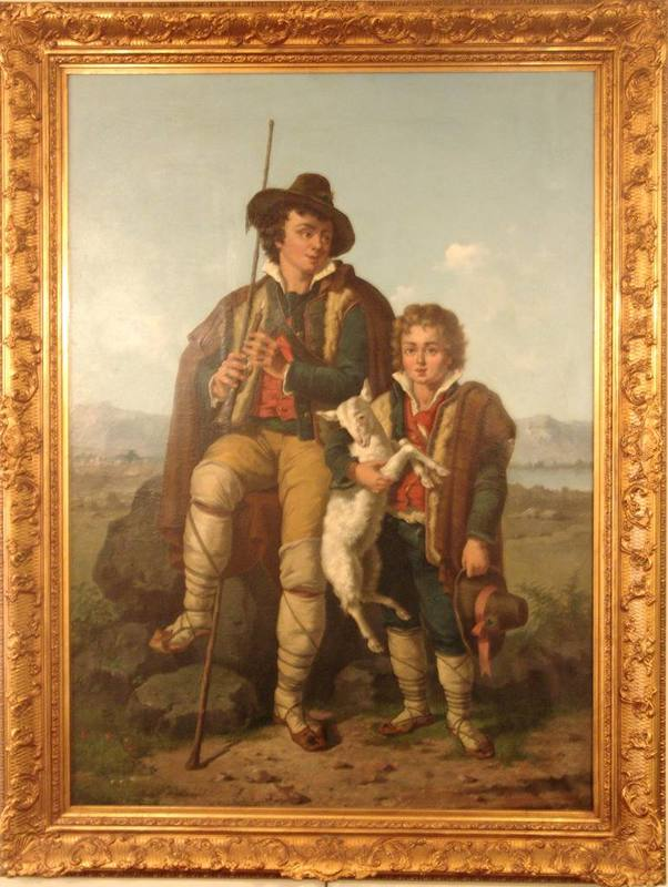 Figlio DE VIVO - Pintura - Young shepherds
