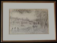 Hélène NEVEUR - Drawing-Watercolor - Sannois Bords de Seine