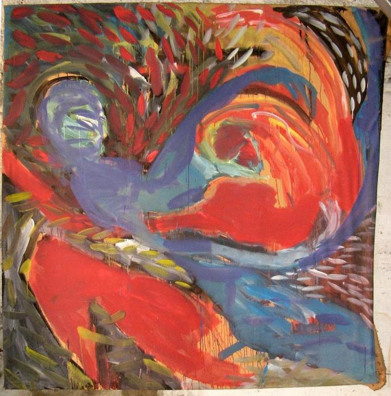Thierry MICHELET - Painting - LEDA ET LE CYGNE