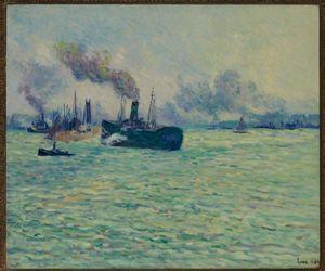 Maximilien LUCE, Rotterdam, Scène de Port