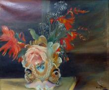 Henri HAYDEN - Pintura - Still Life with Flowers