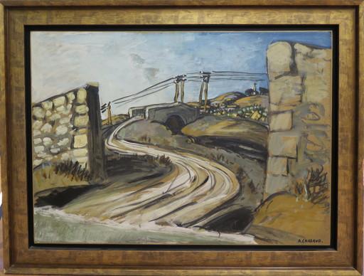 Auguste CHABAUD - Pintura - Pont et mas de Grate semelle
