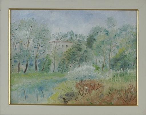 Umberto LILLONI - Pintura - Casa tra gli alberi