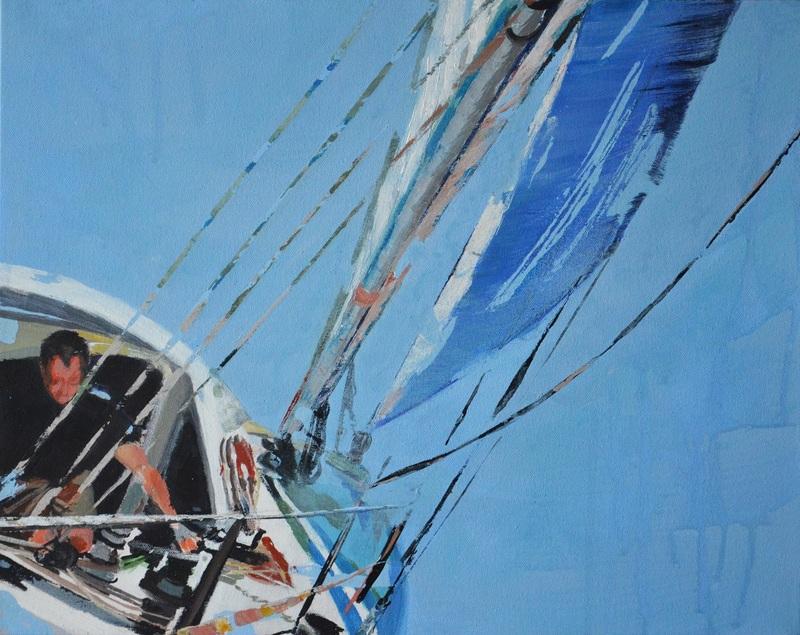 Diana KIROVA - Painting - Race II (Il Lupo del mare)