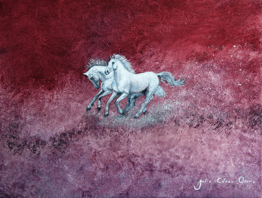 Julio César OSORIO - Painting - Galloping    (Cat N° 6109)