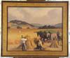 Jules Émile ZINGG - Pintura - Scène de moisson à Boury
