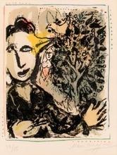 Marc CHAGALL - Estampe-Multiple - The painter bird