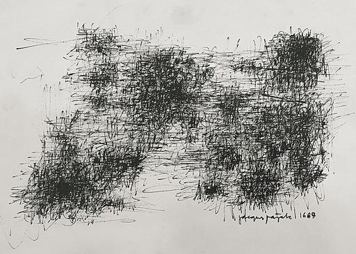 Jacques PAJAK - Disegno Acquarello - Composition 1689