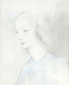 Marie LAURENCIN - Drawing-Watercolor - PROFILE OF A YOUNG WOMAN