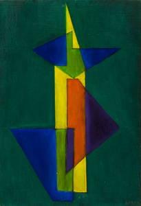 Augusto GARAU - Gemälde - Piccola torre gialla